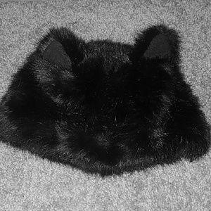 Cat ear fuzzy furry winter bucket hat